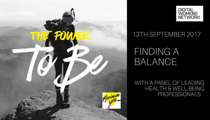 Finding a balance event, a well being session for Busy Women @digitalwomensnetwork