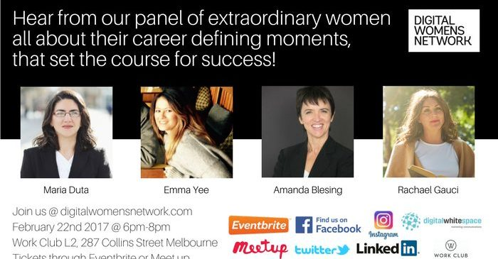 Career defining moments that set the course for success, Digital Women's Network