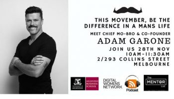 This Movember, BE the differences in a mans life, meet the co-founder Adam Garone