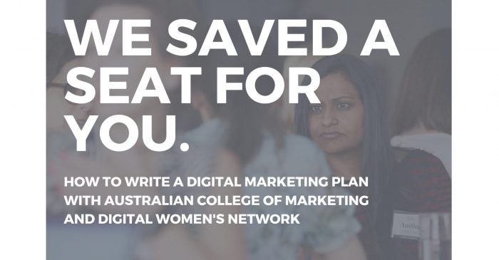 How to write a Digital Marketing Plan : with Australian College of Marketing (Melbourne)